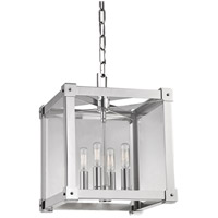 Forsyth 4 Light 12 inch Polished Nickel Pendant Ceiling Light
