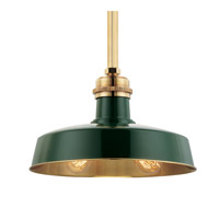 Hudson Valley Lighting Hudson Falls 2 Light Pendant in Green Aged Brass 8614-GAGB