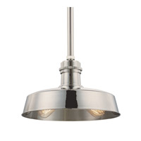 Hudson Falls 2 Light 15 inch Polished Nickel Pendant Ceiling Light