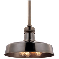 Hudson Falls 3 Light 18 inch Distressed Bronze Pendant Ceiling Light