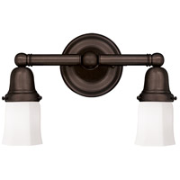 Historic 2 Light 14 inch Old Bronze Bath And Vanity Wall Light in 119