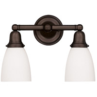 Historic 2 Light 14 inch Old Bronze Bath And Vanity Wall Light in 348M
