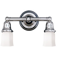 Historic 2 Light 14 inch Polished Chrome Bath And Vanity Wall Light in 119