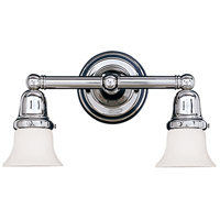 Historic 2 Light 14 inch Polished Chrome Bath And Vanity Wall Light in 341
