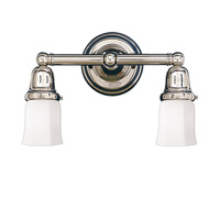 Historic 2 Light 14 inch Polished Nickel Bath And Vanity Wall Light in 119