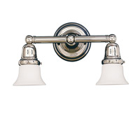 Historic 2 Light 14 inch Polished Nickel Bath And Vanity Wall Light in 341