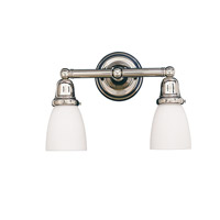 Historic 2 Light 14 inch Polished Nickel Bath And Vanity Wall Light in 348M