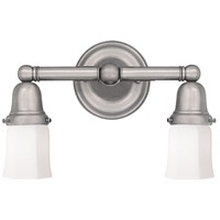 Historic 2 Light 14 inch Satin Nickel Bath And Vanity Wall Light in 119