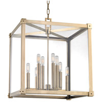 Forsyth 8 Light 20 inch Aged Brass Chandelier Ceiling Light