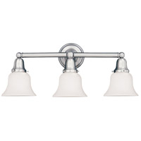 Historic 3 Light 25 inch Polished Chrome Bath And Vanity Wall Light in 341