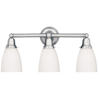 Historic 3 Light 25 inch Polished Chrome Bath And Vanity Wall Light in 348M