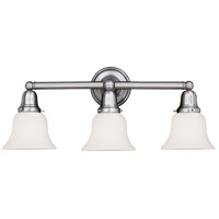 Historic 3 Light 25 inch Polished Nickel Bath And Vanity Wall Light in 341