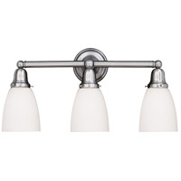 Historic 3 Light 25 inch Polished Nickel Bath And Vanity Wall Light in 348M