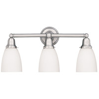 Historic 3 Light 25 inch Satin Nickel Bath And Vanity Wall Light in 348M
