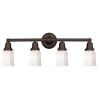 Historic 4 Light 31 inch Old Bronze Bath And Vanity Wall Light in 119
