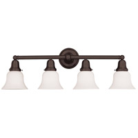 Historic 4 Light 31 inch Old Bronze Bath And Vanity Wall Light in 341