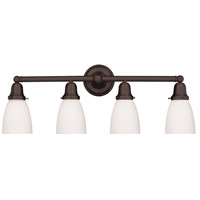 Historic 4 Light 31 inch Old Bronze Bath And Vanity Wall Light in 348M