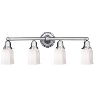 Historic 4 Light 31 inch Polished Chrome Bath And Vanity Wall Light in 119