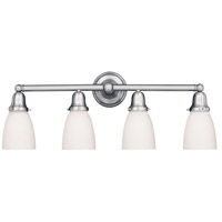 Historic 4 Light 31 inch Polished Chrome Bath And Vanity Wall Light in 348M