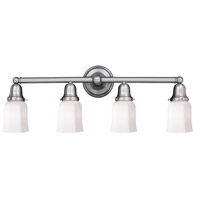 Historic 4 Light 31 inch Polished Nickel Bath And Vanity Wall Light in 119