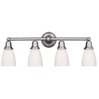 Historic 4 Light 31 inch Polished Nickel Bath And Vanity Wall Light in 348M