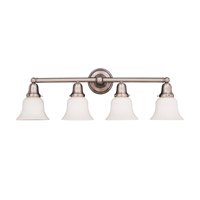 Hudson Valley Lighting Historic 4 Light Bath And Vanity in Satin Nickel 864-SN-341