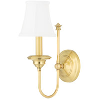 Hudson Valley Lighting Yorktown 1 Light Wall Sconce in Aged Brass 8711-AGB