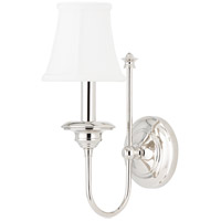Hudson Valley Lighting Yorktown 1 Light Wall Sconce in Polished Nickel 8711-PN