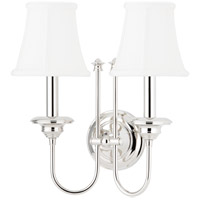 Hudson Valley 8712-PN Yorktown 2 Light 14 inch Polished Nickel Wall Sconce Wall Light