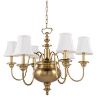 Yorktown 6 Light 30 inch Aged Brass Chandelier Ceiling Light