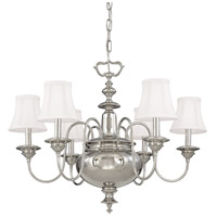 Hudson Valley Lighting Yorktown 6 Light Chandelier in Polished Nickel 8716-PN