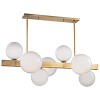 Hudson Valley 8717-AGB Hinsdale 7 Light 44 inch Aged Brass Island Ceiling Light