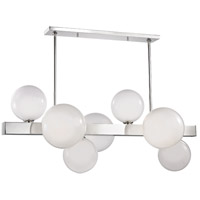Hudson Valley 8717-PN Hinsdale 7 Light 44 inch Polished Nickel Island Ceiling Light photo thumbnail
