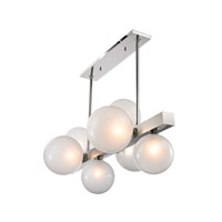 Hudson Valley 8717-PN Hinsdale 7 Light 44 inch Polished Nickel Island Ceiling Light alternative photo thumbnail