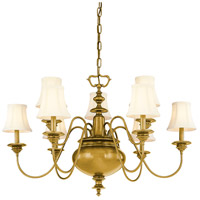 Hudson Valley Lighting Yorktown 9 Light Chandelier in Aged Brass 8719-AGB