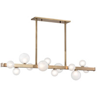 Hudson Valley 8744-AGB Mini Hinsdale LED 45 inch Aged Brass Island Ceiling Light