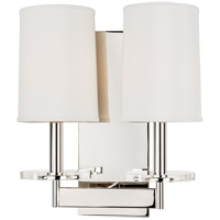Hudson Valley 8802-PN Chelsea 2 Light 12 inch Polished Nickel Wall Sconce Wall Light
