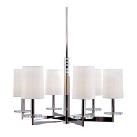 Hudson Valley Lighting Chelsea 6 Light Chandelier in Polished Nickel 8806-PN