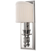 Hudson Valley Lighting Bridgehampton 1 Light Wall Sconce in Polished Nickel 881-PN