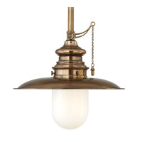 Kendall 1 Light 10 inch Aged Brass Pendant Ceiling Light