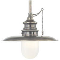 Kendall 1 Light 10 inch Historic Nickel Pendant Ceiling Light