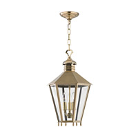Barstow 3 Light 13 inch Aged Brass Outdoor Hanging Lantern