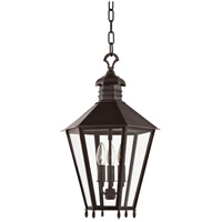 Barstow 3 Light 13 inch Old Bronze Outdoor Hanging Lantern