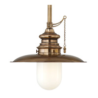 Hudson Valley Lighting Kendall 1 Light Pendant in Aged Brass 8815-AGB photo thumbnail