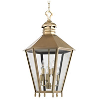 Hudson Valley 8819-AGB Barstow 6 Light 20 inch Aged Brass Outdoor Hanging Lantern