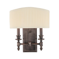 Bridgehampton 2 Light 12 inch Historic Nickel Wall Sconce Wall Light
