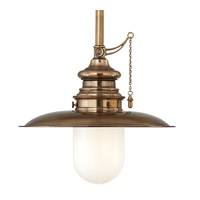 Kendall 1 Light 20 inch Aged Brass Pendant Ceiling Light