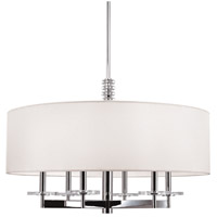 Hudson Valley 8830-PN Chelsea 6 Light 30 inch Polished Nickel Chandelier Ceiling Light