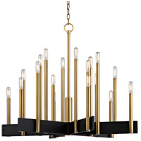 Abrams 18 Light 34 inch Aged Brass Chandelier Ceiling Light