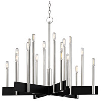 Abrams 18 Light 34 inch Polished Nickel Chandelier Ceiling Light